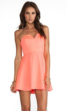Naven Bombshell Circle Dress in Neon Coral | REVOLVE