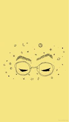 Shades Of Yellow Color Names For Your Inspiration Space girl make-up glasses Cute Wallpapers, Wallpaper Backgrounds, Iphone Wallpaper, Eyes Wallpaper, Art Jaune, Orange Pastel, Photo Humour, Yellow Aesthetic Pastel, Space Girl