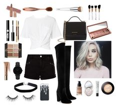 """""""B & W"""" by katmargoo on Polyvore featuring T By Alexander Wang, Aquazzura, Givenchy, Miss Selfridge, CLUSE, MAKE UP FOR EVER, Too Faced Cosmetics, NARS Cosmetics, tarte and Charlotte Russe"""