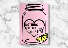 Excited to share this item from my #etsy shop: Customizable sorority canvas, Lemonade mason jar, sweeter than love, customizable sorority letters