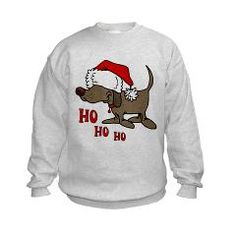 Funny Christmas Dog Kids Sweatshirt> Funny Santa Dog Gifts> Animal Lover Gift and T-shirt Shop