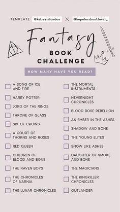 I'm up for the challenge! Does anyone else have more creative ideas for a summer 2019 book challenge? 100 Books To Read, I Love Books, My Books, Fantasy Books To Read, Fantasy Movies, Wheel Of Time Books, Books To Read Before You Die, Book Challenge, Reading Challenge