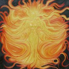 Unelanuhi - Goddess of the sun (Cherokee) Norse Goddess, Goddess Art, Norse Mythology, Green Goddess, Sun Worship, Life Symbol, Mother Goddess, Sun Art, Divine Feminine