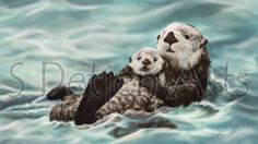Sea Otter & Pup, Mother's Day Samsung Galaxy Note II (phone) Follow Me on Instagram @sdetjenarts Check out my Youtube Channel: https://www.youtube.com/channel/UCezqQx31W9KvGHciU2sizdA