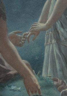 """c0ssette:  John Simmons (1823-1876), """"Hermia and Lysander, a midsummer night's dream"""" detail."""