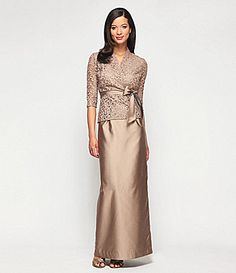 Alex Evenings Petite Soutache Sequin Lace Midi Dress and Jacket ...