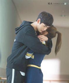 """Cheer up, Kang Yeon Doo. Tv Show Couples, Cute Couples, Korean Drama Movies, Korean Actors, Lee Won Geun, Sassy Go Go, Kdrama, Who Are You School 2015, Stark Sein"