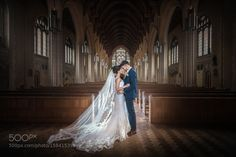 Ealing Abbey Wedding Portrait by EdPereira