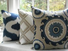 Decorative Designer Pillow Covers by TheCottageCupboard Pillow Slip Covers, Pillow Cover Design, Decorative Pillow Covers, Cushion Covers, Blue Pillows, Sofa Pillows, Throw Pillows, Blue Couches, Fluffy Pillows