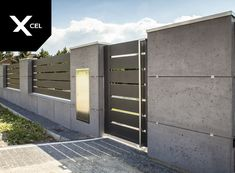 Gate Wall Design, Front Wall Design, House Fence Design, Modern Fence Design, Entrance Design, Gate House, Facade House, House Outer Design, Modern Garage Doors