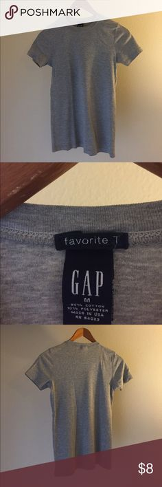 Grey women's tee Cotton polyester blend, heather grey fitted tee. Classic! GAP Tops Tees - Short Sleeve
