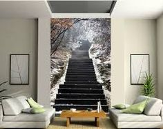 Image result for stairway wall murals