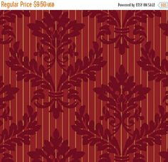 ON SALE Red damask fabric Christmas Peace Windham 354441M 2 Jerry Stube