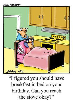 helping your wife at home humor   ... › Portfolio › Funny Husband Wife Birthday Humorous Art Cartoon