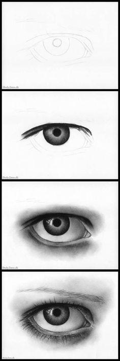 Charcoal Eye Tutorial by *Zindy on deviantART