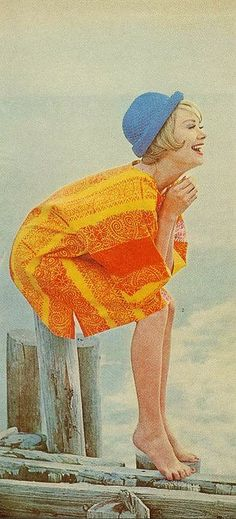 Blue hat From Mademoiselle, April 1961