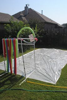 Diary of a Preppy Mom: Summer Boredom Buster: DIY Slip N Slide