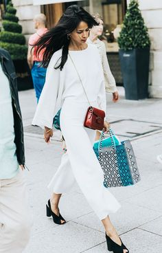 What do you wear when the dress code calls for business cocktail attire? We've rounded up some of our favorite looks for inspiration. All White Outfit, White Outfits, Dress Outfits, Dresses, Gala Gonzalez, White Fashion, Girl Fashion, Fashion Outfits, Womens Fashion