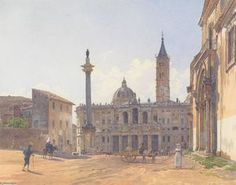 Rudolf Von Alt - die basilika of Santa Maria Maggiore im Rome