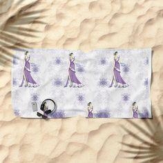 #BeachTowel #towel #violet #fashionIllustration #girl #purple #society6 #bath #Gift #GiftIdeas #society6