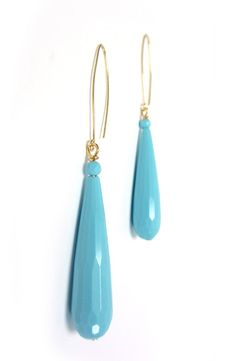 Turquoise Raindrop Earrings by taralynndesigns on Etsy, $20.00
