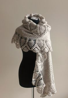 knitted stole  shawl blancet afgan color latte or camel by iveta67, $79.00