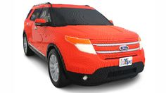 This is a full-size Lego Ford.... this is a replica Explorer, built using 380,000 bricks by 22 of Ford's Chicago Assembly Plant workers. These workers laboured for around 2,500 hours - presumably not in one go - to build this 1200kg behemoth, which will find a home at the new Legoland park in Florida.