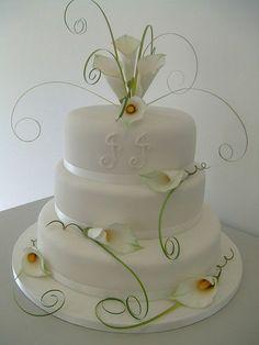 Floral Wedding Cakes, White Wedding Cakes, Elegant Wedding Cakes, Cool Wedding Cakes, Wedding Candy, Elegant Cakes, Floral Cake, Wedding Cake Designs, Camo Wedding