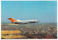 South African Airways Boeing 727-44 ZS-DYN in flight over Johannesburg, July 1965. (Photo: South African Airways)