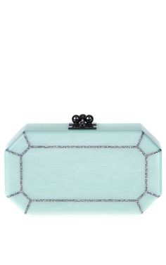 Fiona Faceted In Mint by Edie Parker for Preorder on Moda Operandi