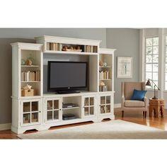 Progressive Furniture Charleston Bone Complete Entertainment Wall Unit E707-20/22/66/90 - The Home Depot
