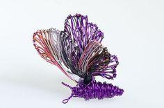 Purple #butterfly brooch. Wire art brooch. #Art jewelry. Unusual brooch. Butterfly jewelry. #Wire sculpture. Cute brooch. Small brooch.  Ask a Question €27.00 EUR