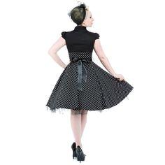 H&R Polka Dot Collar Dress (Black/White)