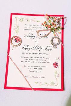 Winter Rustic Wedding Invitation