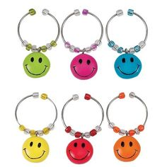 Boston Warehouse Happy Kitchen Wine Charm, Set of 6 by Boston Warehouse. $13.24. Set of 6 wine charms. By boston warehouse - creative ideas for home entertaining; holiday design. Hand wash recommended. 1/2-Inch long. Hand painted charms on metal rings. The Boston Warehouse set of 6 Happy Kitchen Wine Charms provides an interesting solution to an entertaining dilemma. The 1/2-Inch, hand painted charms on metal rings, allow guests to identify their wine glass when at...