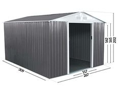 Metal Shed Dallas - 8.84 m²