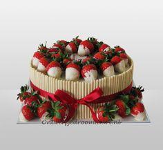 Taart met aardbeien