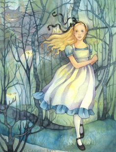 The characters from Alice in Wonderland, the classic novel by Lewis Carroll, retain their status as one of the most popular subjects for artists to illustrate, almost 150 years later. Lewis Carroll, Illustrations, Illustration Art, Inspiration Artistique, Chesire Cat, Alice Liddell, Alice Madness, Pintura Country, Adventures In Wonderland