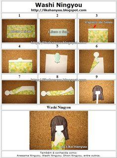 Lika Hanyuu -折り紙-XD: [和紙人形] Bonecas Japonesas Marca-Páginas 2