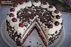 Egyik legnépszerűbb klasszikus a feketeerdő torta, melynek elkészítéséhez több féle recept található. Biztos vagyok benne, hogy mindegy... Pudding, The Originals, Cake, Food, Cherries, Pies, Rezepte, Pie Cake, Pastel