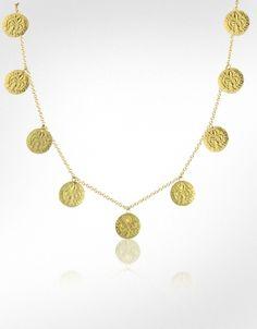 Torrini Fiorino - Fleur-de-Lis 18K Gold Charm Chain Necklace