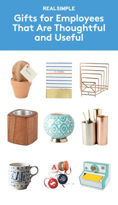 Gifts for Employees That Are Thoughtful and Useful | Hop through our gift guide, where you'll find a variety of thoughtful options to make everyone in the office feel appreciated during the holidays. From whimsical desk accessories (like a cactus bulletin board), to chic journals for note-taking, to desk planters that liven up a workspace, to relaxing and revitalizing at-home spa kits, there's something here for every price range and personality.