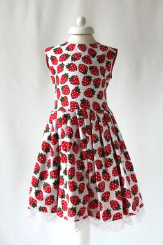 Strawberry Dress for 1 to 10 Years