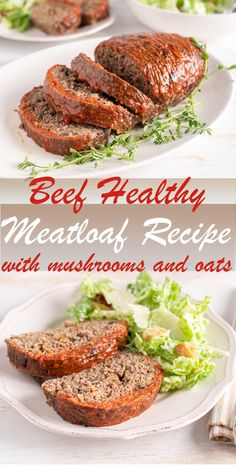 It's a simple Healthy Meatloaf Recipe made with lean ground beef to give it its classic taste. Meatloaf, stuffed with sautéed mushrooms and oatmeal makes your dinner not just healthy, but super flavorful #meatloafrecipes #meatloaf #healthymeatloaf #beefmeatloaf #dinnerideas #healthydinner #healthyrecipes Healthy Meatloaf, Meatloaf Recipes, Side Dish Recipes, Healthy Dinner Recipes, Meat Loaf Recipe Easy, Canadian Food, Foodblogger, Mushroom Recipes, Healthy Eating