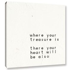 "Varick Gallery Words of Encouragement V Textual Art on Wrapped Canvas Size: 10"" H x 10"" W x 2"" D"