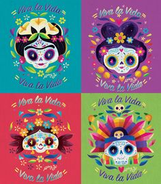For this article in the international artist series we turn to Mexico, featuring six illustrators and designers who create fantastic work, from illustration to lettering to graphic design and more! Day Of Death, Day Of The Dead Party, Sugar Skull Art, Sugar Skulls, Illustration, Mexican Folk Art, International Artist, Kawaii, Halloween Decorations