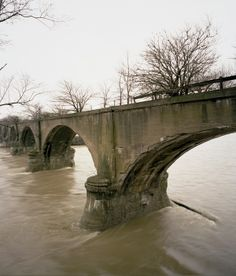 Old bridge on the Maumee River, Perrysburg on one side and Maumee on the other.