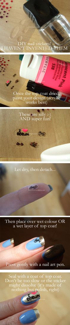 DIY-Nailart Stickers! An easy and super-fun way to create your own nail art stickers!