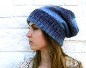 ON SALE - Regular Price 50 - Hand Knit Slouchy Hat - Will Fit Teens to Adult Woman or Man