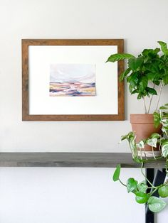 Frame small scale paintings in oversized frames & mattes to make a statement! Love Painting, Painting Frames, Small Paintings, Landscape Paintings, Love Frames, Mysterious Places, Small Art, Antique Shops, Simple House